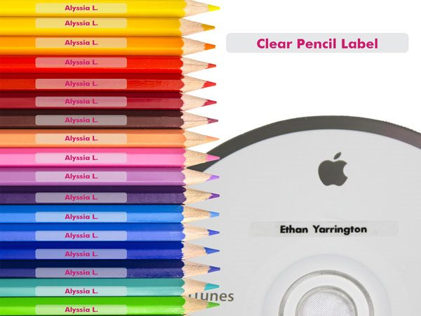 Clear Pencil Labels