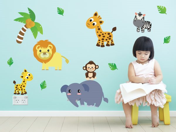 Jungle Animals Wall Stickers
